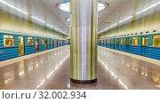 Купить «Станция «Котельники» Московского метрополитена», фото № 32002934, снято 22 августа 2016 г. (c) Владимир Сергеев / Фотобанк Лори