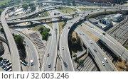 Купить «Image of car interchange of Barcelona in the Spain.», видеоролик № 32003246, снято 12 июня 2018 г. (c) Яков Филимонов / Фотобанк Лори