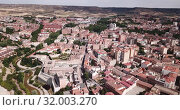 Купить «Aerial view on the city Guadalajara. Castile-La-Mancha. Spain», видеоролик № 32003270, снято 16 июня 2019 г. (c) Яков Филимонов / Фотобанк Лори