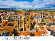 Cathedral and Episcopal Palace of Astorga in summer. Castile and Leon. Spain (2019 год). Стоковое фото, фотограф Яков Филимонов / Фотобанк Лори
