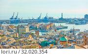 Купить «Old Port in Genoa», фото № 32020354, снято 30 июня 2019 г. (c) Роман Сигаев / Фотобанк Лори