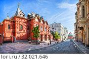 Купить «Театр Наций в Москве Theater of Nations in Petrovsky Lane in Moscow», фото № 32021646, снято 12 мая 2019 г. (c) Baturina Yuliya / Фотобанк Лори