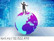 Купить «Businessman on top of the world», фото № 32022410, снято 20 сентября 2019 г. (c) Elnur / Фотобанк Лори
