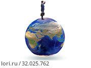 Купить «Businessman on top of the world», фото № 32025762, снято 20 сентября 2019 г. (c) Elnur / Фотобанк Лори