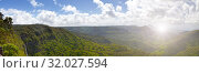 Купить «Mauritius. Highland panorama with rainforest and sky in the clouds», фото № 32027594, снято 25 апреля 2012 г. (c) Куликов Константин / Фотобанк Лори