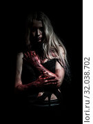 Pale bloody woman. Стоковое фото, фотограф Art Konovalov / Фотобанк Лори