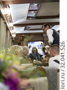 Купить «Belmond grand hibernian train. Ireland - Jul 16, 2019.», фото № 32041526, снято 16 июля 2019 г. (c) age Fotostock / Фотобанк Лори