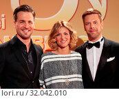 Купить «Alexander Klaws,Ella Endlich,Tom Gaebel ZDF TV-Show», фото № 32042010, снято 20 сентября 2019 г. (c) age Fotostock / Фотобанк Лори