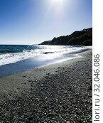 Cala Chica, Natural Site Cliffs of Maro Cerro-Gordo, Nerja, Málaga, Andalusia, Spain, Europe. Стоковое фото, фотограф José Luis Hidalgo Salguero / easy Fotostock / Фотобанк Лори