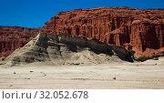 Купить «Geological formations in Ischigualasto», фото № 32052678, снято 13 февраля 2017 г. (c) Яков Филимонов / Фотобанк Лори