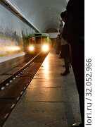 Купить «Pyongyang, North Korea. Metro station», фото № 32052966, снято 1 мая 2019 г. (c) Знаменский Олег / Фотобанк Лори