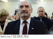 April 27, 2013 Poznan, Poland. Antoni Macierewicz received the medal of Duke Przemyslaw II. Редакционное фото, фотограф Kina Mateusz / age Fotostock / Фотобанк Лори
