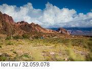 Купить «Views of landscape near RN 7, Patagonia, Argentina», фото № 32059078, снято 10 февраля 2017 г. (c) Яков Филимонов / Фотобанк Лори