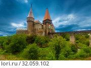 Купить «Photo of Corvin Castle which is histirical landmark», фото № 32059102, снято 21 сентября 2017 г. (c) Яков Филимонов / Фотобанк Лори