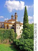Villa Duodo, Kirche, Chiesa di San Giorgio. Стоковое фото, фотограф Bernd J. W. Fiedler / age Fotostock / Фотобанк Лори