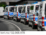 Купить «Police in action, Fridays for Future Demonstration, Essen, Ruhr Area, North Rhine-Westphalia, Germany», фото № 32068978, снято 3 мая 2019 г. (c) Caro Photoagency / Фотобанк Лори