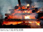 Купить «Religion christian festival Walpurgis Night with big fire and burning witches, burning woodpile», фото № 32072038, снято 21 ноября 2019 г. (c) easy Fotostock / Фотобанк Лори