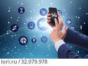 5G mobile technology concept - high internet speed. Стоковое фото, фотограф Elnur / Фотобанк Лори