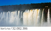 Garganta del Diablo waterfall on Iguazu River. Стоковое фото, фотограф Яков Филимонов / Фотобанк Лори