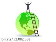 Купить «Businessman on top of the world», фото № 32082558, снято 20 сентября 2019 г. (c) Elnur / Фотобанк Лори