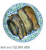 Купить «Delicious stuffed eggplants with ham», фото № 32091650, снято 21 января 2020 г. (c) Яков Филимонов / Фотобанк Лори
