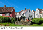 Купить «Europe, Norway,Rogaland county,Gamle Stavanger (Old Stavanger) is an area of the city of Stavanger in the county of Rogaland, Norway which consists of...», фото № 32093934, снято 28 июня 2017 г. (c) age Fotostock / Фотобанк Лори