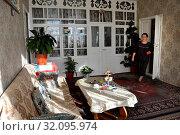 Купить «Russia, Dagestan, Kubachi, interior house», фото № 32095974, снято 19 сентября 2018 г. (c) age Fotostock / Фотобанк Лори