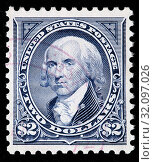 James Madison (1751-1836), President of USA, postage stamp, USA, 1994. (2010 год). Редакционное фото, фотограф Ivan Vdovin / age Fotostock / Фотобанк Лори