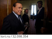Silvio Berlusconi during the press conference at the Quirinale of the Parliamentary Group 'Forza Italia' after consultation with the President of the Republic Sergio Mattarella. (2019 год). Редакционное фото, фотограф Agf/Alessandro Serrano' / age Fotostock / Фотобанк Лори