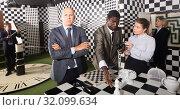 Купить «Confused man in escape room», фото № 32099634, снято 29 января 2019 г. (c) Яков Филимонов / Фотобанк Лори