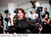 Vittoria Schisano during the opening ceremony and red carpet of film 'The truth' at the 76th Venice Film Festival, Venice, ITALY-28-08-2019. Редакционное фото, фотограф Mirco Toniolo / AGF/Mirco Toniolo / AGF / age Fotostock / Фотобанк Лори
