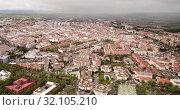 Купить «Roofs of town in La Mancha region. Ciudad Real. Spain», видеоролик № 32105210, снято 23 апреля 2019 г. (c) Яков Филимонов / Фотобанк Лори