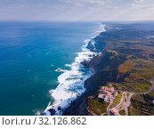 Cabo da Roca landscape with lighthouse (2019 год). Стоковое фото, фотограф Яков Филимонов / Фотобанк Лори
