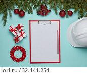 Купить «New Year and Christmas background», фото № 32141254, снято 17 августа 2019 г. (c) Мельников Дмитрий / Фотобанк Лори