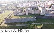 Купить «Panoramic view from drone of the castle in Elvas. Portugal», видеоролик № 32145486, снято 22 апреля 2019 г. (c) Яков Филимонов / Фотобанк Лори