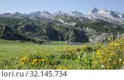 Купить «Mountain lakes and beautiful landscape, Lakes of Covadonga, Peaks of Europe», видеоролик № 32145734, снято 15 июля 2019 г. (c) Яков Филимонов / Фотобанк Лори