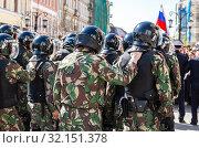 Купить «Special Forces soldiers of the police», фото № 32151378, снято 5 мая 2018 г. (c) FotograFF / Фотобанк Лори
