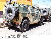 Купить «High-mobility vehicles GAZ-2330 Tigr», фото № 32151482, снято 5 мая 2018 г. (c) FotograFF / Фотобанк Лори