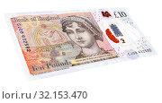 British currency ten pound banknote. Стоковое фото, фотограф FotograFF / Фотобанк Лори