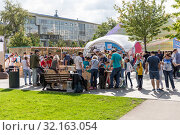 Купить «Посетители фестиваля Maker Faire Moscow 2019», эксклюзивное фото № 32163054, снято 7 сентября 2019 г. (c) Алексей Шматков / Фотобанк Лори