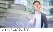 Купить «Male testing digital monitor and touchscreen», фото № 32166878, снято 5 августа 2020 г. (c) Яков Филимонов / Фотобанк Лори