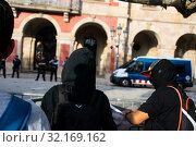 Купить «September 11, 2019 - Manifestation against the catalan politicians in fron of the Catalonia Parliament in Barcelona.», фото № 32169162, снято 11 сентября 2019 г. (c) age Fotostock / Фотобанк Лори