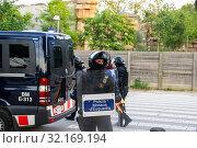 Купить «September 11, 2019 - Manifestation against the catalan politicians in fron of the Catalonia Parliament in Barcelona.», фото № 32169194, снято 11 сентября 2019 г. (c) age Fotostock / Фотобанк Лори