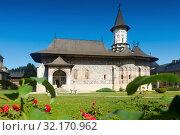 Купить «Church of Sucevita Monastery, Romania», фото № 32170962, снято 15 сентября 2017 г. (c) Яков Филимонов / Фотобанк Лори