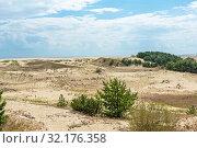 Купить «Песчаные дюны на Куршской косе у высоты Эфа. Калининградская область», эксклюзивное фото № 32176358, снято 11 июля 2018 г. (c) Александр Щепин / Фотобанк Лори