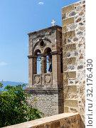 Купить «View of fragment street fortified town Monemvasia (Laconia, Greece, Peloponnese)», фото № 32176430, снято 15 июня 2019 г. (c) Татьяна Ляпи / Фотобанк Лори