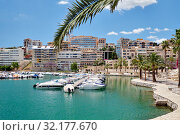 Picturesque view to marina in the Palma de Mallorca, Balearic Islands, Spain (2019 год). Стоковое фото, фотограф Alexander Tihonovs / Фотобанк Лори