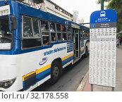Купить «Chatuchak Park bus stop, Bangkok», фото № 32178558, снято 8 сентября 2019 г. (c) Александр Подшивалов / Фотобанк Лори