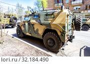 """Купить «High-mobility vehicles GAZ-2330 """"Tigr""""», фото № 32184490, снято 5 мая 2018 г. (c) FotograFF / Фотобанк Лори"""