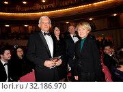 16 01 2010 Warsaw, Poland. Pictured: Danuta Hubner, Jerzy Buzek. Редакционное фото, фотограф nowak rafal / age Fotostock / Фотобанк Лори